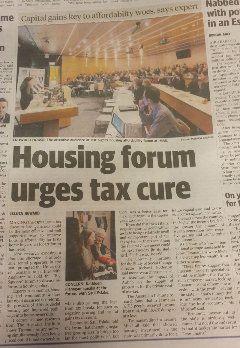 Housing Forum, Hobart Mercury 3rd May Page 6