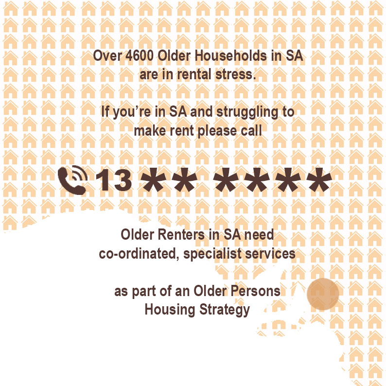 Who should older South Australians renters call when they need help?
